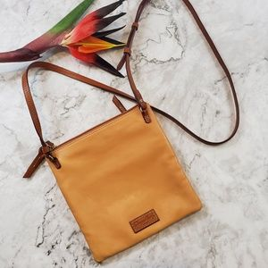Dooney and Bourke Camel Leather Crossbody Purse